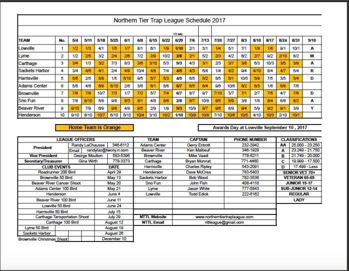 nttl 2017 schedule